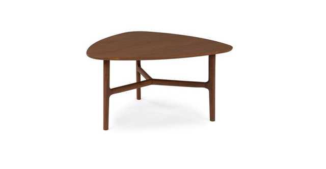 Brezza Matte Walnut Triangular Coffee Table - Article