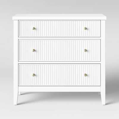 Wrentham Beadboard Farmhouse 3 Drawer Dresser White - Threshold - Target
