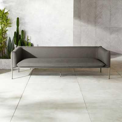 Novara Grey Outdoor Sofa - CB2