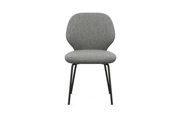 Kit Dining Chair with Plow Fabric and Matte Black legs - Interior Define