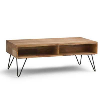 Hunter Coffee Table Wood and Metal Natural - Wyndenhall - Target