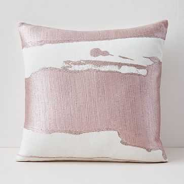 "Ink Mural Pillow Cover, 20""x20"", Adobe Rose - West Elm"