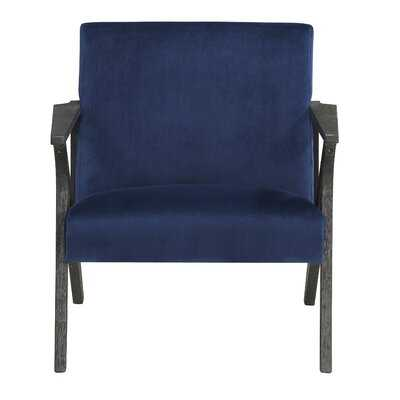 Accent Chair, Navy Velvet - Wayfair