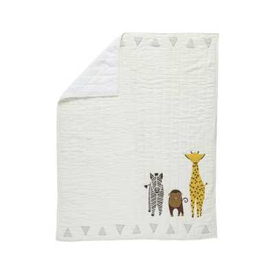 Safari Animal Baby Quilt - Crate and Barrel