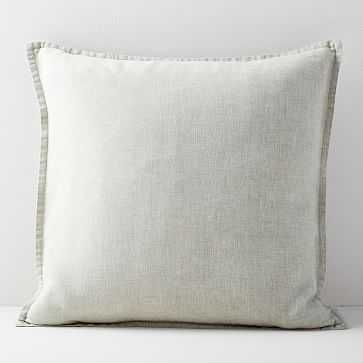 "Belgian Flax Linen Pillow Cover, Natural Flax, 20""x20"" - West Elm"