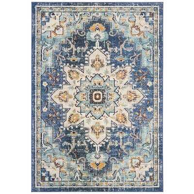 Grieve Cream/Light Blue Area Rug - Wayfair