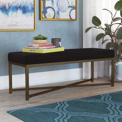 Lonon Rectangle Velvet Bench - AllModern