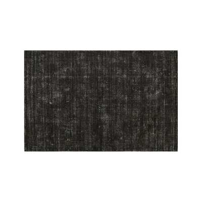 Vaughn Modern Black Rug 8'x10' - Crate and Barrel