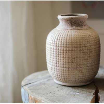 Debbie Porcelain Ceramic Textured Table Vase - Wayfair
