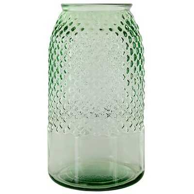 Friedell Diamond Recycled Glass Table Vase - Wayfair