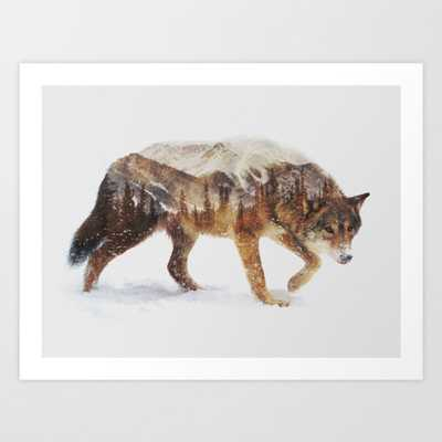 Arctic Wolf Art Print - Small by Andreaslie - Society6