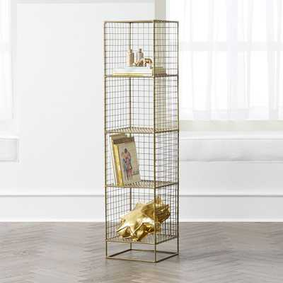 On the Grid Gold 4-Cube Bookcase - Crate and Barrel