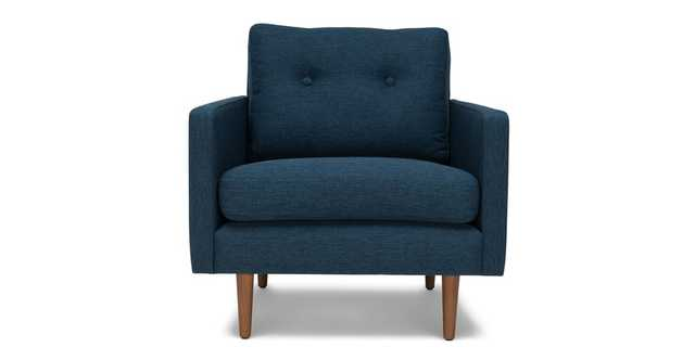 Anton Twilight Blue Lounge Chair - Article