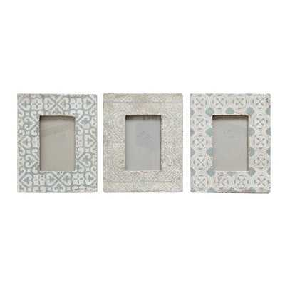 Mike 3 Piece Cement Picture Frame Set - Birch Lane