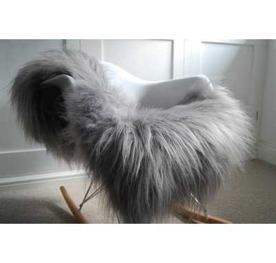 Huitt Pelt Hand-Woven Sheepskin Gray Area Rug - Wayfair
