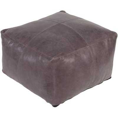 Brower Leather Pouf - Wayfair