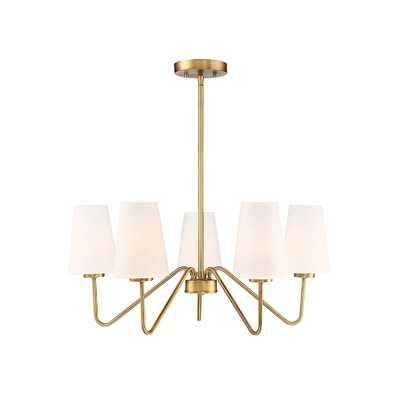 Filament Design 5-Light Natural Brass Chandelier - Home Depot