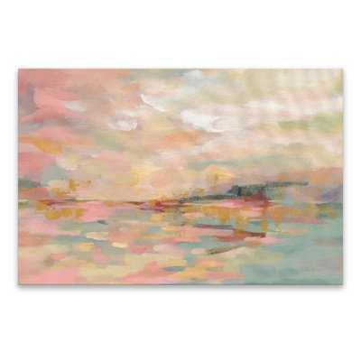 'Pink Waves' Acrylic Painting Print on Canvas - Wayfair