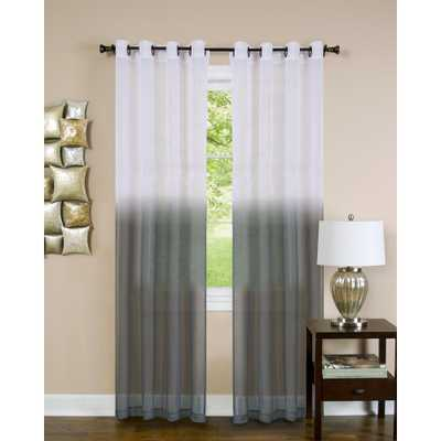 Achim Sheer Essence Charcoal (Grey) Window Curtain Panel - 52 in. W x 84 in. L - Home Depot