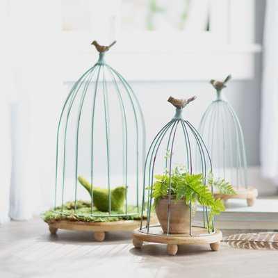 3 Piece Decorative Bird Cages Set - Birch Lane
