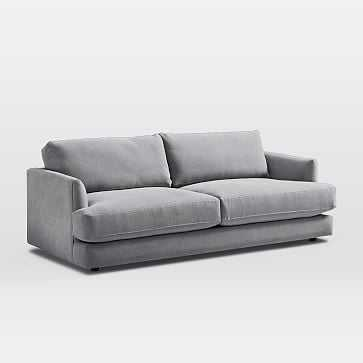 Haven Sofa, Performance Washed Canvas, Gray - West Elm