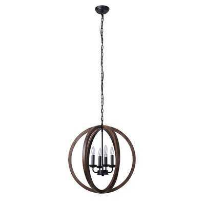 Silsden 4-Light Globe Chandelier - Wayfair