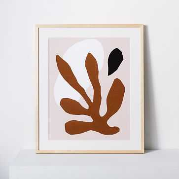"Kate Arends Framed Print, Leaf, Nautral, 18""x24"" - West Elm"