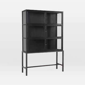 Drifted Black Display Cabinet - West Elm