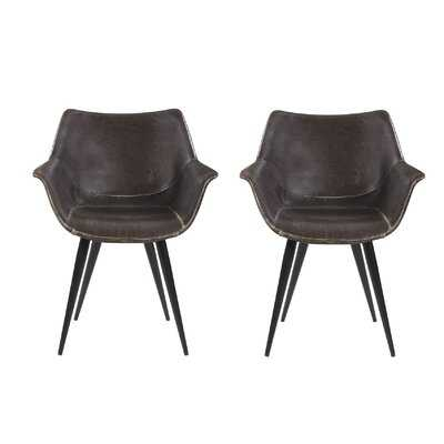 Dining Chairs With Angled Legs Brown And Grey (Set Of 2) - Wayfair