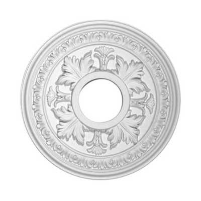 American Pro Decor 15-1/2 in. x 1-1/2 in. Floral Polyurethane Ceiling Medallion - Home Depot
