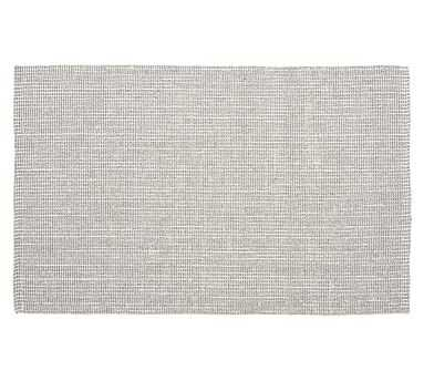 Chunky Natural Wool & Jute Rug, 3 x 5', Gray/Ivory - Pottery Barn