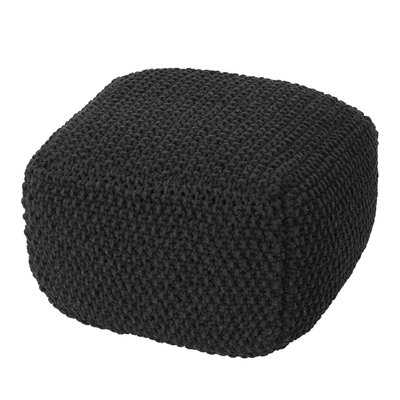Gioia Mabe Knitted Square Pouf - Wayfair