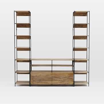 "Industrial Storage Modular System Set 1 :  49"" Media + 2 17"" Bookshelves - West Elm"