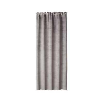 "Laras Grey Velvet Curtain Panel 50""x96"" - Crate and Barrel"