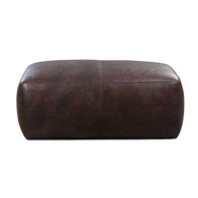 Ashley Leather Pouf - Wayfair