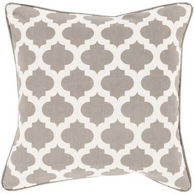 Moroccan Printed Lattice 20x20 Pillow Cover with Down Insert - Neva Home