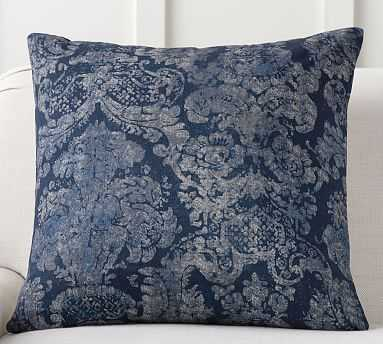 "Lucci Printed Pillow, 24"", Blue Multi - Pottery Barn"
