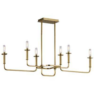 Emmett 6 - Light Candle Style Classic / Traditional Chandelier - AllModern