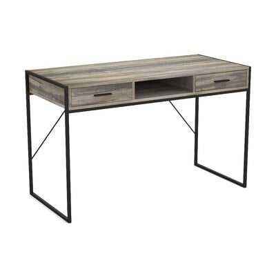 Stringer Wood and Metal Desk - Wayfair
