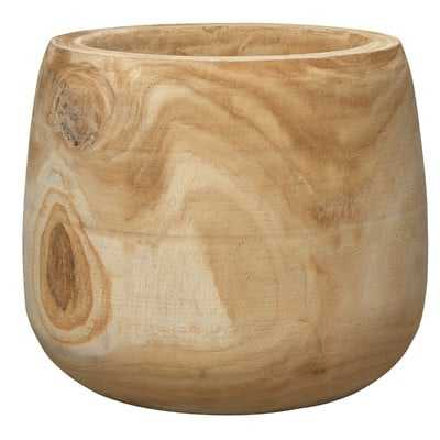 Archbald Cylinder Natural Wooden Vase - Birch Lane