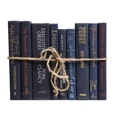 Authentic Decorative Books - By Color Modern Navy ColorPak (1 Linear Foot, 10-12 Books) - Wayfair