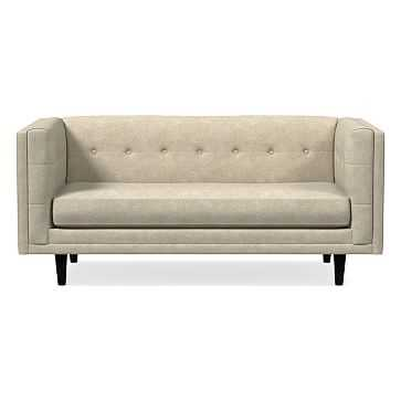 "Bradford 68"" Sofa, Distressed Velvet, Light Taupe, Chocolate, Poly - West Elm"
