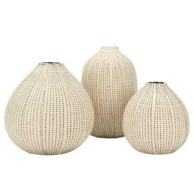 Isakson Stoneware 3 Piece Table Vase Set - Wayfair