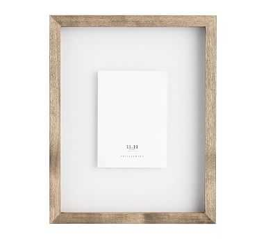 "Floating Wood Gallery Frame, Graywash - 11"" x 14"" - Pottery Barn"