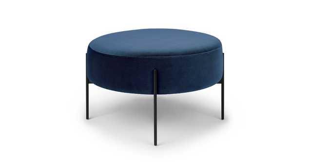 Macca Cascadia Blue Ottoman - Article