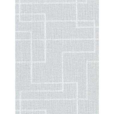 Warner 60.8 sq. ft. Clarendon Sky Blue Geometric Faux Grasscloth Wallpaper - Home Depot