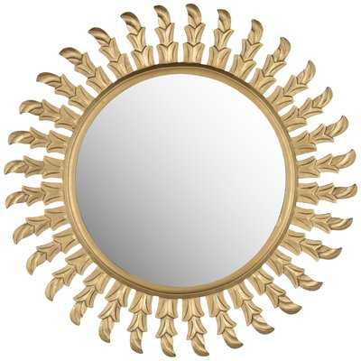 Chambord Gold Sun Wood Mirror - Wayfair