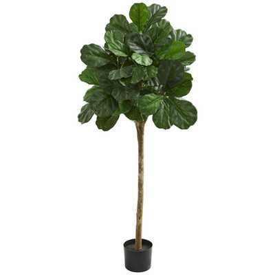 "Nearly Natural Indoor 60""H. Fiddle Leaf Fig Artificial Tree - Home Depot"