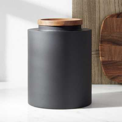 Clark Large Matte Black Canister - Crate and Barrel