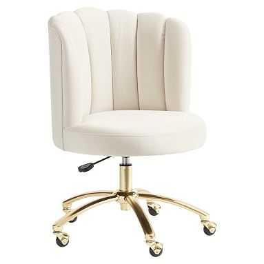 Channel Stitch Task Chair: Lustre Velvet Linen - Pottery Barn Teen